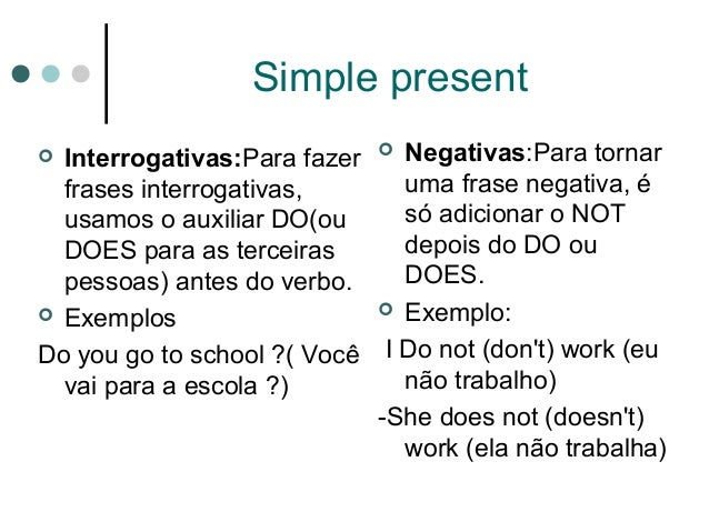 Inglês Simple Present X Simple Past
