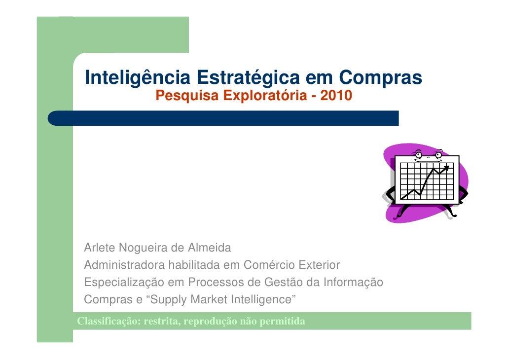 Pesquisa sobre Inteligência em Compras