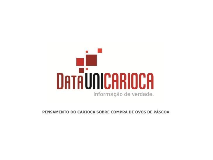 PENSAMENTO DO CARIOCA SOBRE COMPRA DE OVOS DE PÁSCOA