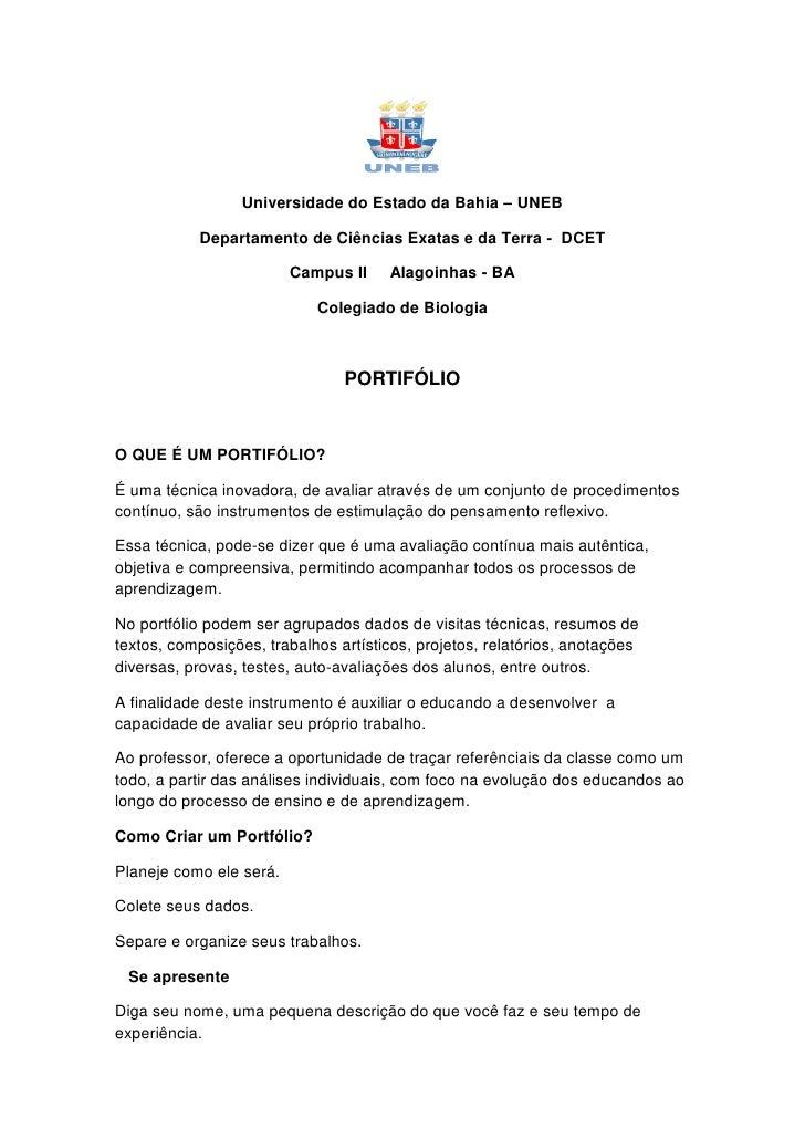 Universidade do Estado da Bahia – UNEB             Departamento de Ciências Exatas e da Terra - DCET                      ...