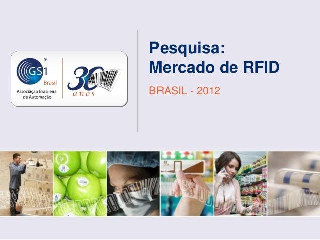 Pesquisa:Mercado de RFIDBRASIL - 2012