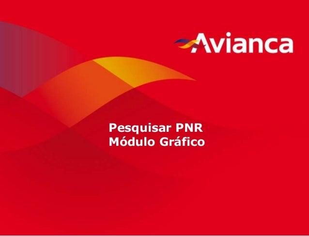 1 Pesquisar PNR Módulo Gráfico