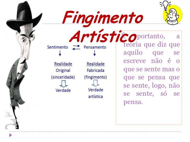 Fingimento Artístico portanto, que        É         teoria que diz                        a             aquilo que se     ...