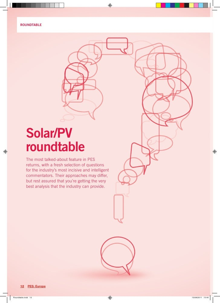 ROUNDTABLE     Solar/PV     roundtable     The most talked-about feature in PES     returns, with a fresh selection of que...