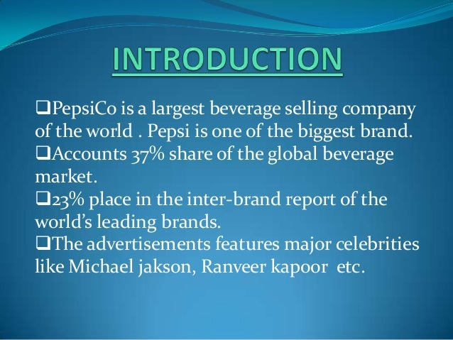 pest analysis on pepsico About pepsico : pepsico, inc is an american multinational food, snack, and beverage corporation headquartered in purchase, new york the merger of two reigning companies, pepsi-cola company and frito-lay, inc gave birth to pepsico in 1965.