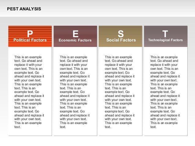 PEST Analysis with Bookmarks Diagram
