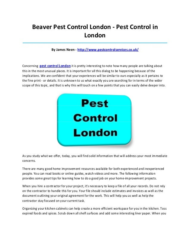 Beaver Pest Control London - Pest Control in                        London________________________________________________...
