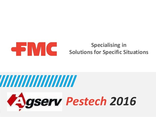 Specialising in Solutions for Specific Situations Pestech 2016