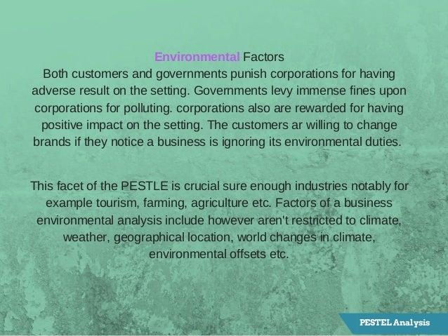 EnvironmentalFactors Bothcustomersandgovernmentspunishcorporationsforhaving adverseresultonthesetting.Governm...