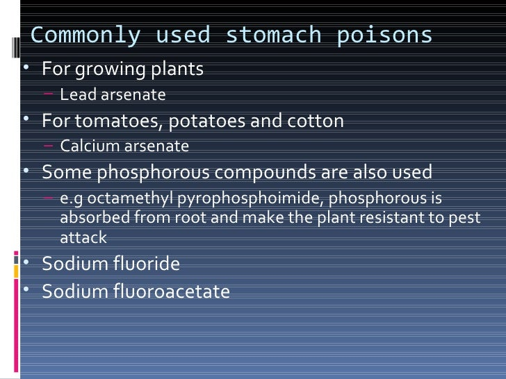 Contact poisons These poisons penetrate through the skin or  cuticle and cause death of the pest These are commonly used...