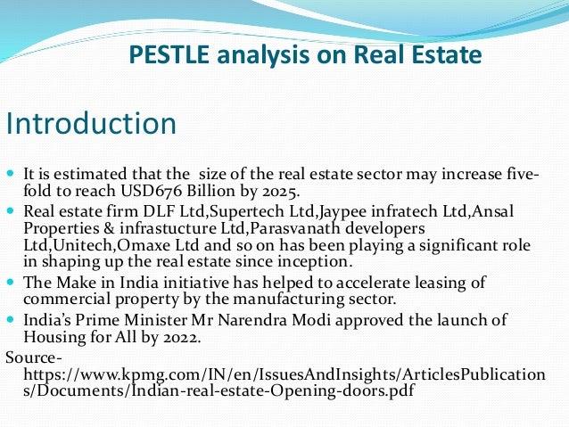 Pestle analysis on real estate