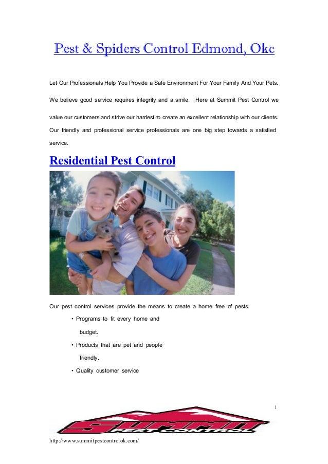http://www.summitpestcontrolok.com/ 1 Pest & Spiders Control Edmond, Okc Let Our Professionals Help You Provide a Safe Env...