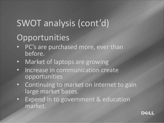 dell computer swot and pest analysis Dell inc is a multinational information technology corporation based in round rock, texas, united states, that develops, sells and supports computers.