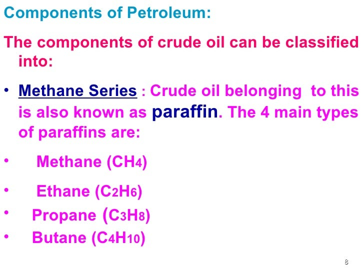 what are the components of petroleum