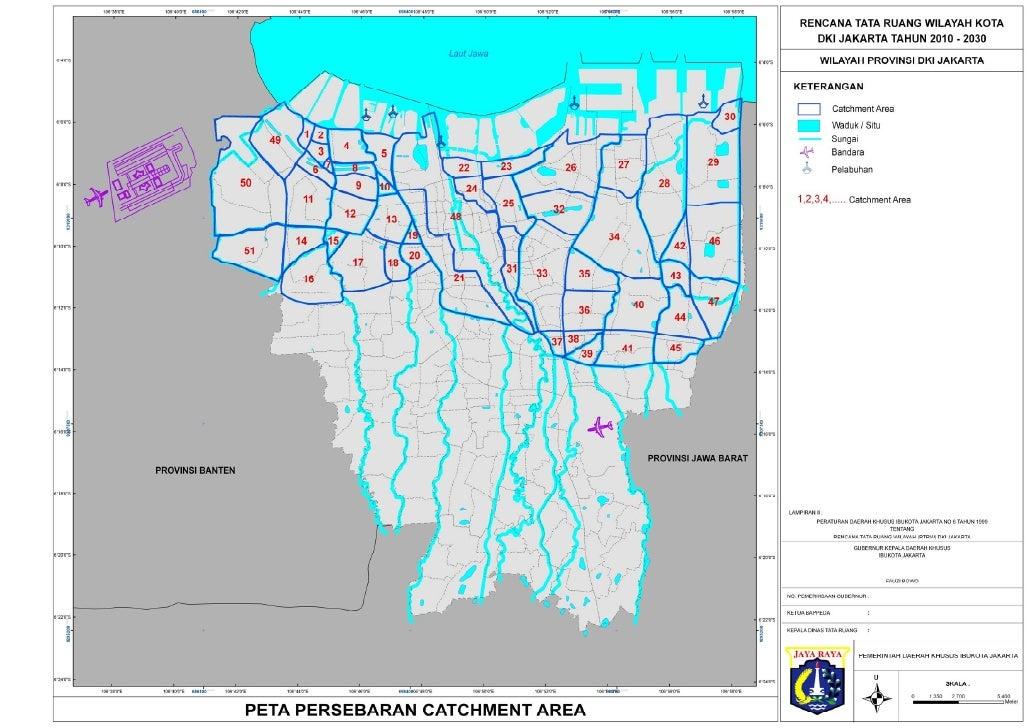 Peta draft RTRW Jakarta