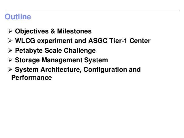 Petabye scale data challenge