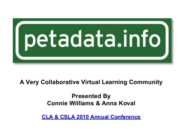 A Very Collaborative Virtual Learning Community Presented By Connie Williams & Anna Koval CLA & CSLA 2010 Annual Conference