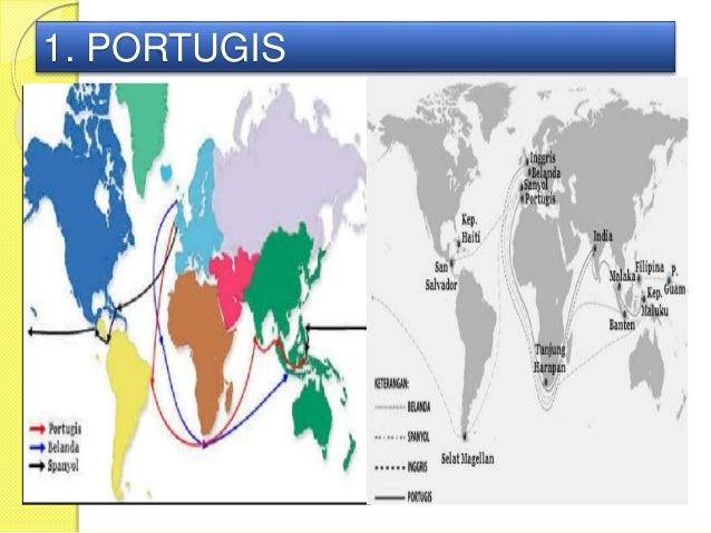Peta Jalur Masuknya Bangsa Barat Indonesia Portugis 3 Gambar Buta