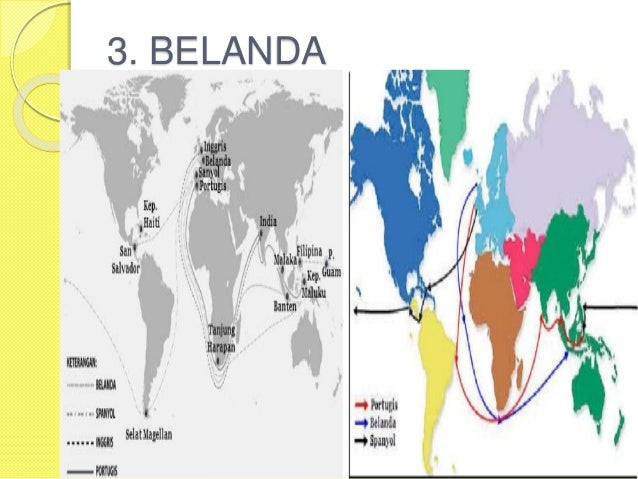 Peta Jalur Masuknya Bangsa Barat Indonesia Belanda 8 Gambar Buta