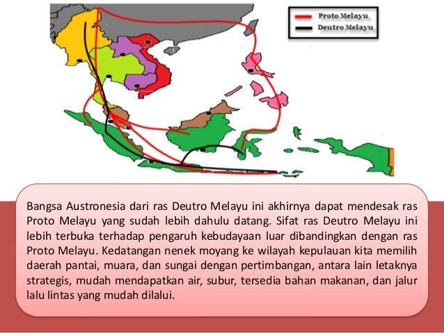 Peta Jalur Penyebaran Manusia Purba Indonesia Peminatan