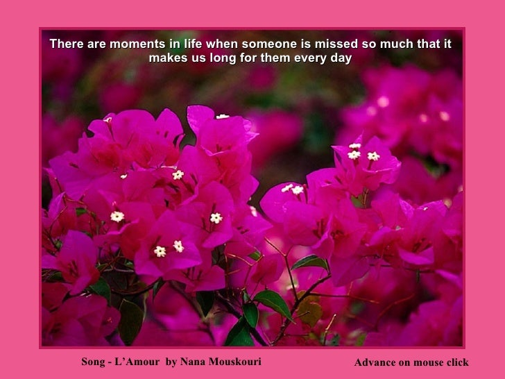 There are moments in life when someone is missed so much that it makes us long for them every day Advance on mouse click S...