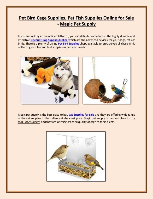 Pet Bird Cage Supplies, Pet Fish Supplies Online for Sale