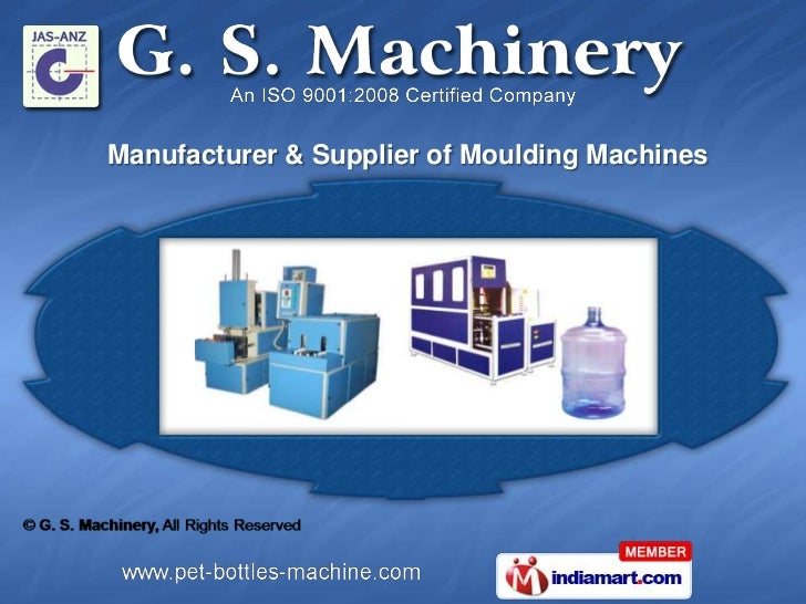 Manufacturer & Supplier of Moulding Machines