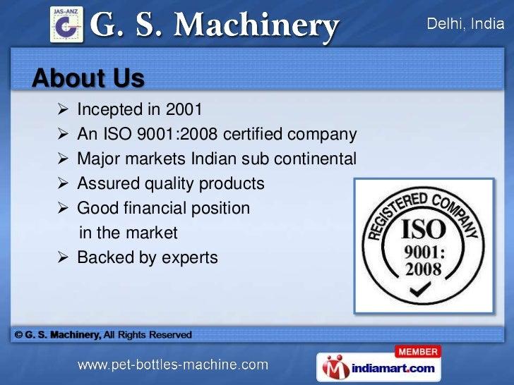 Pet Blow Moulding Machines by G. S. Machinery Delhi Slide 2