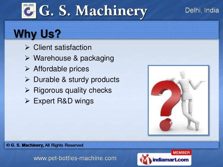 Pet Blow Moulding Machines by G. S. Machinery Delhi Slide 3