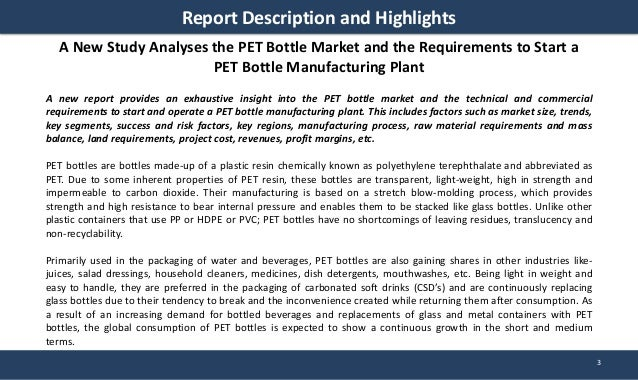 Pet Bottle Manufacturing Plant Project Report