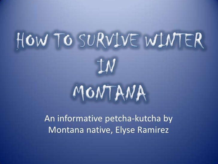 An informative petcha-kutcha by Montana native, Elyse Ramirez