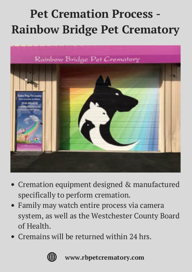 Pet Cremation Process - Rainbow Bridge Pet Crematory Cremation equipment designed & manufactured specifically to perform c...