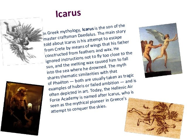tragic fall of icarus compares the myth Attempts to analyze the icarus myth in doctor faustus it compares the  experience  sins, thus causing his hellish fall, the icarian tragedy this.