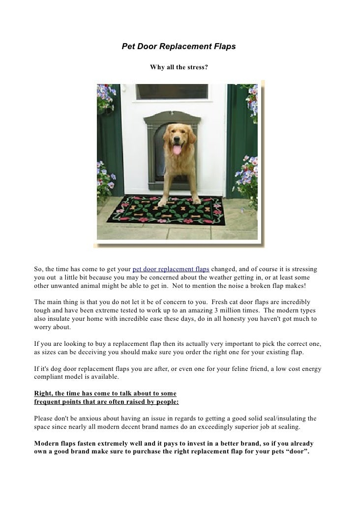 Pet Door Replacement Flaps Why People Get Stressed