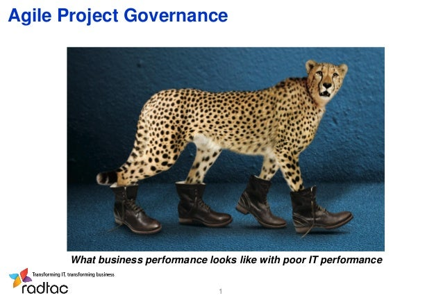 Agile Project Governance  What business performance looks like with poor IT performance 1