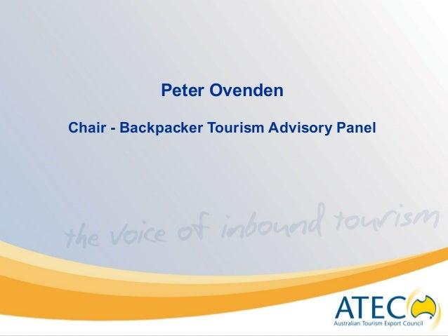 Peter Ovenden Chair - Backpacker Tourism Advisory Panel