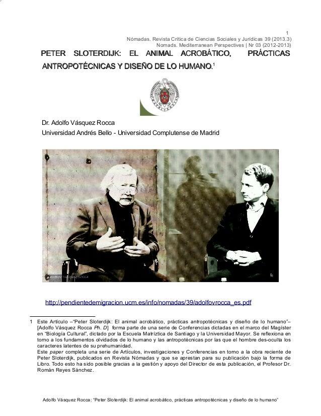 1 Nómadas. Revista Crítica de Ciencias Sociales y Jurídicas 39 (2013.3) Nomads. Mediterranean Perspectives | Nr 03 (2012-2...