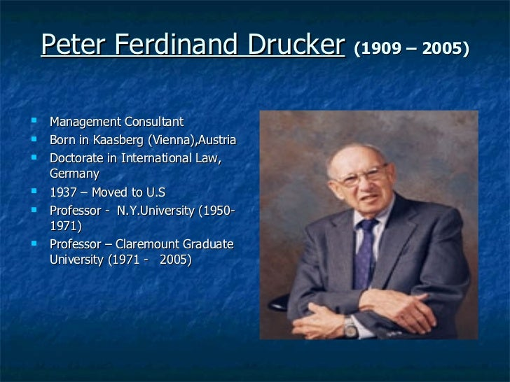 peter drucker contributions to management theory