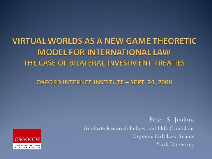 Peter  S. Jenkins Graduate Research Fellow and PhD Candidate  Osgoode Hall Law School York University