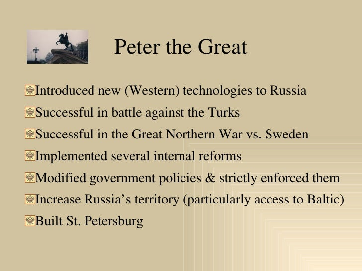 Peter the Great Slide 3
