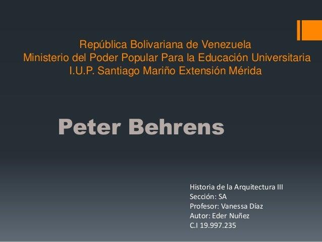 República Bolivariana de Venezuela Ministerio del Poder Popular Para la Educación Universitaria I.U.P. Santiago Mariño Ext...