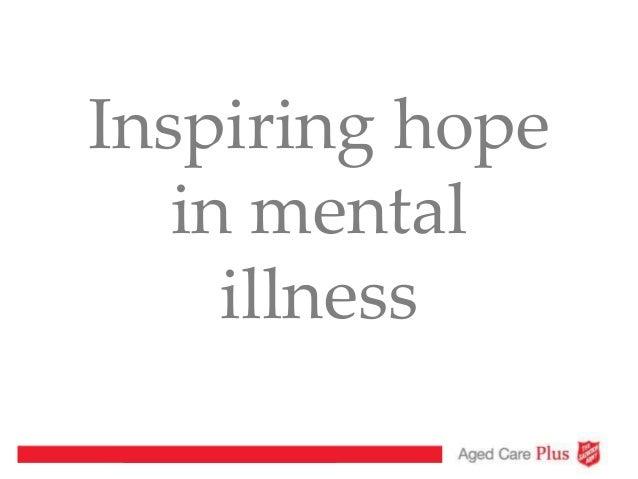 Inspiring hope in mental illness