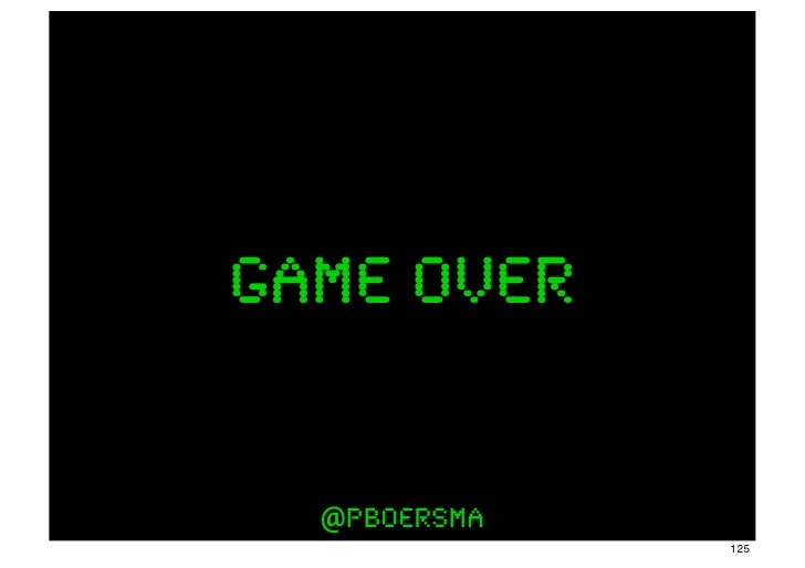 game over  @pboersma              125
