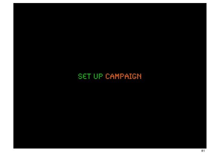 set up campaign                  81