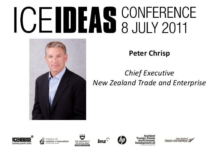 Peter Chrisp        Chief ExecutiveNew Zealand Trade and Enterprise