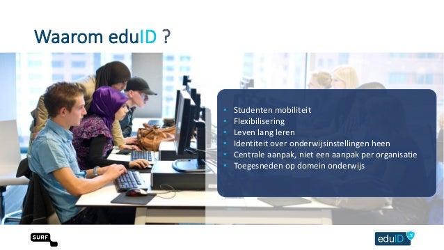 EduID ondersteunt de check-in en check-uit met één onderwijsidentiteit Peter clijsters. Slide 3