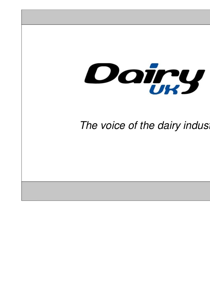 The voice of the dairy industry