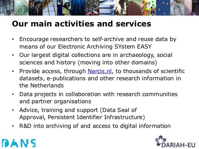 NARCIS.nl: Access to Research Information,e-Publications, Data Sets and more