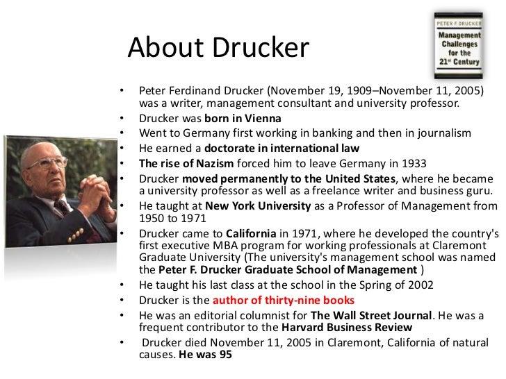 Short bio on peter drucker