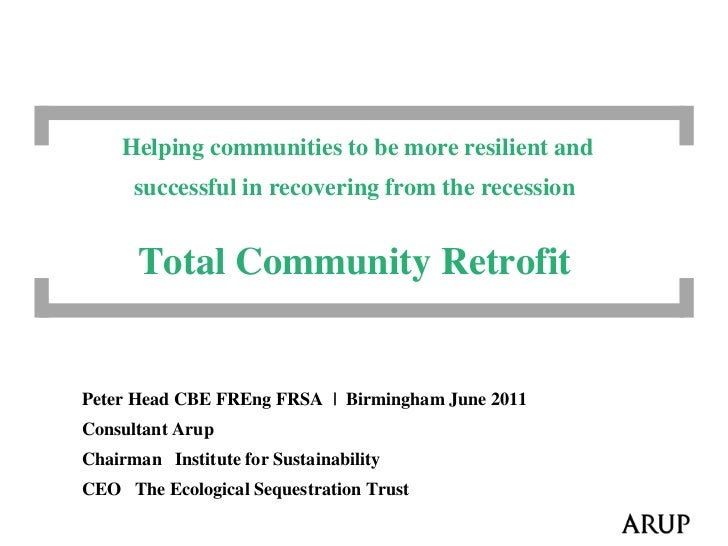 Helping communities to be more resilient and            successful in recovering from the recession             ...